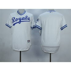 MLB Kansas City Royals Blank White 1974 Turn Back The Clock Stitched Men Jersey