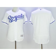 MLB Kansas City Royals Blank White 2016 Flexbase Majestic Baseball Men Jersey
