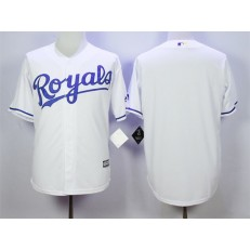 MLB Kansas City Royals Blank White New Cool Base Men Jersey