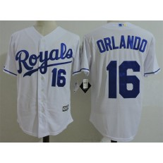 MLB Kansas City Royals Coach 16 Bo Jackson White Home Cool Base Baseball Men Jersey