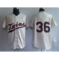MLB Minnesota Twins 36 Robbie Grossman Cream Men Jersey