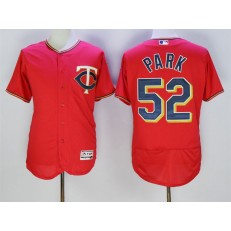 MLB Minnesota Twins 52 Byung-Ho Park Red 2016 Flexbase Majestic Baseball Men Jersey