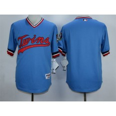 MLB Minnesota Twins Blank Blue Cooperstown Men Jersey