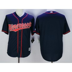 MLB Minnesota Twins Blank Navy Blue 2015 Cool Base Baseball Men Jersey