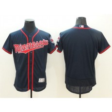 MLB Minnesota Twins Blank Navy Blue 2016 Flexbase Majestic Baseball Men Jersey