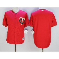 MLB Minnesota Twins Blank Red Alternate Stitched Majestic 2016 Cool Base Men Jersey