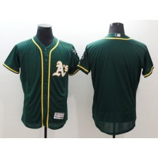MLB Oakland Athletics Blank Green Flexbase Authentic Collection Stitched Baseball Men Jersey