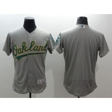 MLB Oakland Athletics Blank Grey Flexbase Authentic Collection Stitched Baseball Men Jersey