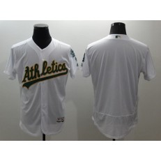 MLB Oakland Athletics Blank White Flexbase Authentic Collection Stitched Men Jersey