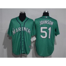 MLB Seattle Mariners 51 Randy Johnson Green New Cool Base Stitched Men Jersey