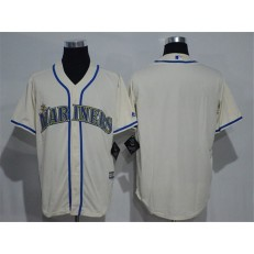 MLB Seattle Mariners Blank Cream New Cool Base Stitched Men Jersey