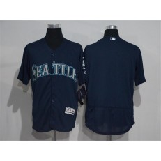 MLB Seattle Mariners Blank Navy Blue 2016 Flexbase Majestic Baseball Men Jersey