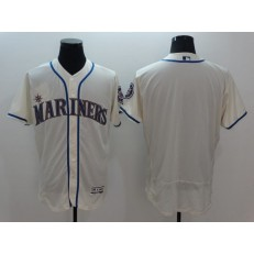 MLB Seattle Mariners Blank Retired Cream 2016 Flexbase Majestic Baseball Men Jersey