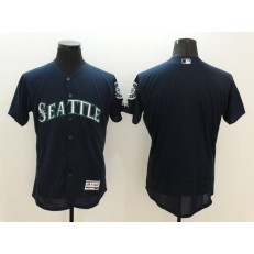 MLB Seattle Mariners Blank Retired Navy Blue 2016 Flexbase Majestic Baseball Men Jersey