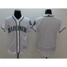 MLB Seattle Mariners Blank Retired White 2016 Flexbase Majestic Baseball Men Jersey