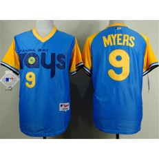 MLB Tampa Bay Rays 9 Wil Myers 1988 Light Blue Men Jersey
