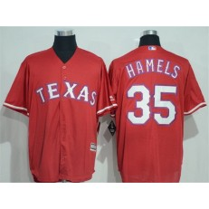 MLB Texas Rangers 35 Cole Hamels Red New Cool Base Stitched Baseball Men Jersey