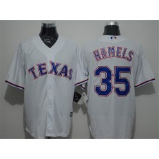 MLB Texas Rangers 35 Cole Hamels White New Cool Base Stitched Men Jersey