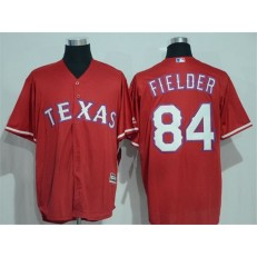 MLB Texas Rangers 84 Prince Fielder Red New Cool Base Stitched Baseball Men Jersey