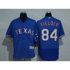 MLB Texas Rangers 84 Prince Fielder Retired Royal Blue 2016 Flexbase Stitched Baseball Men Jersey