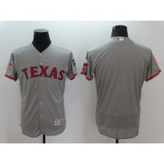 MLB Texas Rangers Blank Gray Fashion Stars & Stripes 2016 Flexbase Independence Day Men Jersey