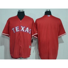 MLB Texas Rangers Blank Red New Cool Base Stitched Baseball Men Jersey