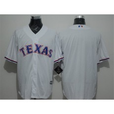 MLB Texas Rangers Blank White Home Stitched Majestic Cool Base Cooperstown Collection Men Jersey