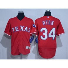 MLB Texas Rangers 34 Red 2016 Flexbase Stitched Baseball Men Jersey