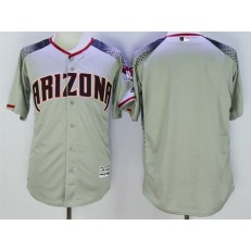 MLB Arizona Diamondbacks Blank Retired Road Gray Brick 2016 Flexbase Majestic Baseball Men Jersey