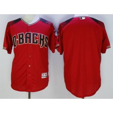 MLB Arizona Diamondbacks Blank Retired Road Red Brick 2016 Flexbase Majestic Baseball Men Jersey