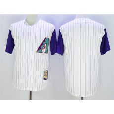 MLB Arizona Diamondbacks Blank White Majestic Cooperstown Collection Throwback Cool Base Men Jersey