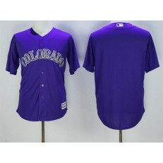 MLB Colorado Rockies Blank Purple New Cool Base Stitched Men Jersey