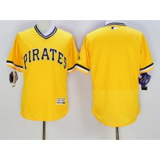 MLB Pittsburgh Pirates Blank Yellow Flexbase Authentic Collection Cooperstown Stitched Baseball Men Jersey