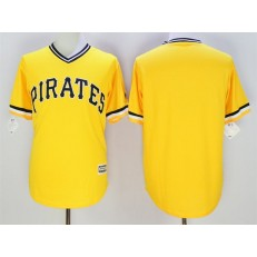 MLB Pittsburgh Pirates Blank Yellow New Cool Base Men Jersey