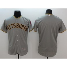 MLB Pittsburgh Pirates Jersey Blank Grey Flexbase 2016 Player Men Jersey