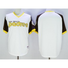 MLB San Diego Padres Blank White 1978 Turn Back The Clock Stitched Baseball Men Jersey