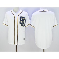 MLB San Diego Padres Blank White 2016 Cool Base Stitched Men Jersey