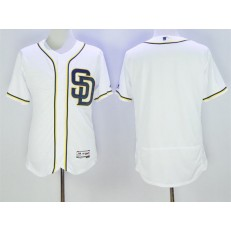 MLB San Diego Padres Retired Player Blank Home White 2016 Flexbase Majestic Baseball Men Jersey