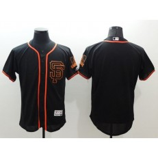 MLB San Francisco Giants Blank Black Flexbase Authentic Collection Alternate Stitched Baseball Men Jersey