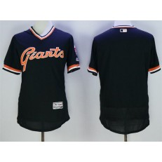 MLB San Francisco Giants Blank Black Flexbase Authentic Collection Cooperstown Stitched Baseball Men Jersey