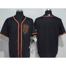 MLB San Francisco Giants Blank Black New Cool Base Alternate Stitched Men Jersey