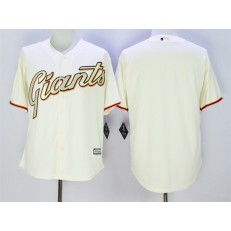 MLB San Francisco Giants Blank Cream With Gold Program 2015 Cool Base Jersey