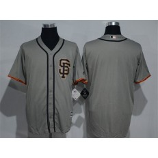 MLB San Francisco Giants Blank Grey New Cool Base Road Stitched Men Jersey