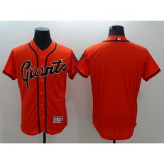 MLB San Francisco Giants Blank Orange Flexbase Authentic Collection Alternate Stitched Baseball Men Jersey