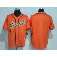 MLB San Francisco Giants Blank Orange New Cool Base Alternate Stitched Men Jersey