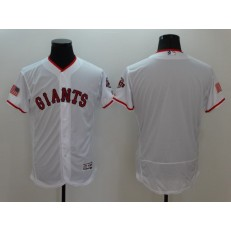 MLB San Francisco Giants Blank Retired White Fashion Stars & Stripes 2016 Flexbase Independence Day Men Jersey
