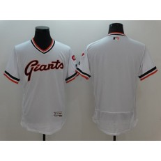 MLB San Francisco Giants Blank White Flexbase Authentic Collection Cooperstown Stitched Baseball Men Jersey