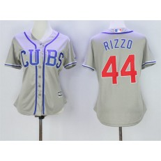 MLB Chicago Cubs 44 Anthony Rizzo Grey Alternate Road Stitched Baseball Women Jersey