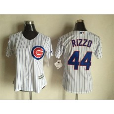 MLB Chicago Cubs 44 Anthony Rizzo White 2015 Cool Base Baseball Women Jersey