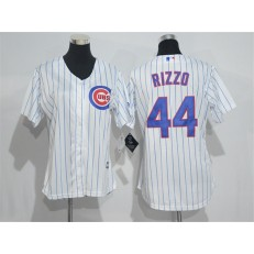 MLB Chicago Cubs 44 Anthony Rizzo White Home New Cool Base Baseball Women Jersey